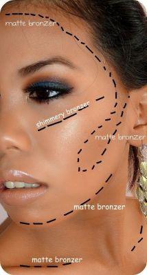 where to apply bronzer