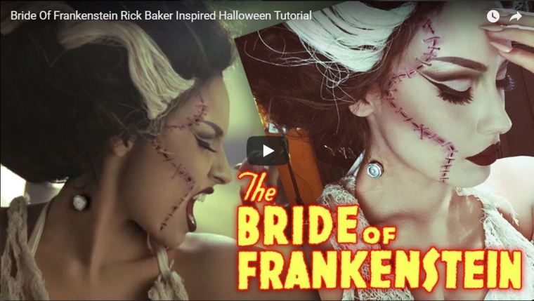 Bride of Frankenstein Video makeup tutorial