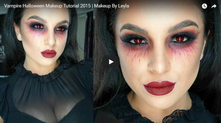 Vampire Makeup video tutorial